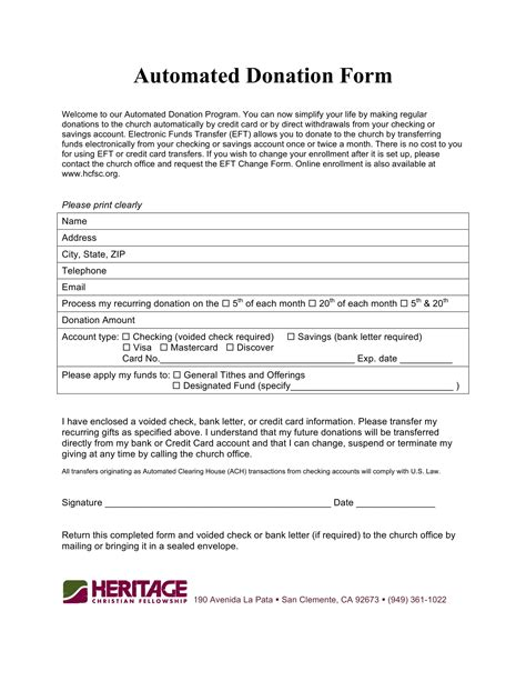 FREE 5+ Church Donation Forms in PDF | Excel