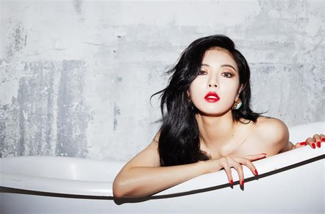 HyunA Appears Topless in New Single 'Red' Announcement Off